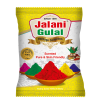 Yellow Color Premium Quality Holi Gulal - 100 gram